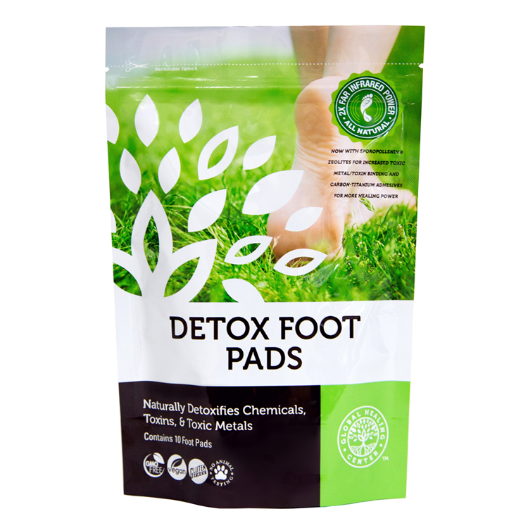 All Natural Detox Foot Pads With Organic Ingredients - Gl...