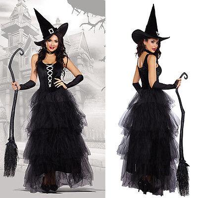 Women Halloween Witch Fancy Dress  Adult Sorceress Outfit Costume Hat Cosplay](Sorceress Outfit)