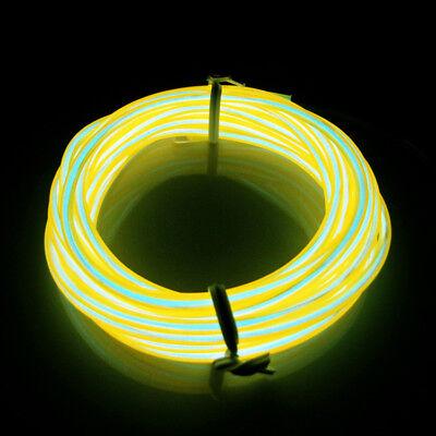 LED Gelb 3M EL Wire Lightup Kostüm Neon Party Outdoor Cafe Restaurant Bad Bar (Outdoor Kostüm)