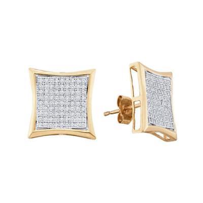 0.50 CTWDiamond Square Kite Cluster Earrings 10KT White Gold - REF-4... Lot 8608