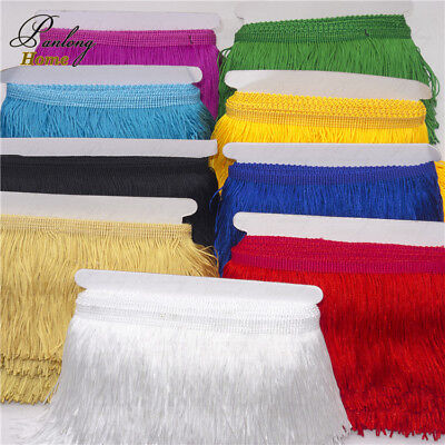 10yds/lot 9cm Chainette Fringe Dance Costume Lamp diy Curtain Tassel Lace Trim (Tasseled Fringe)