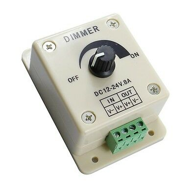 1pcs 12v 8a Pir Sensor Led Strip Light Switch Dimmer Brightness Controller Power