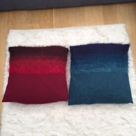 Two large ombré cushions