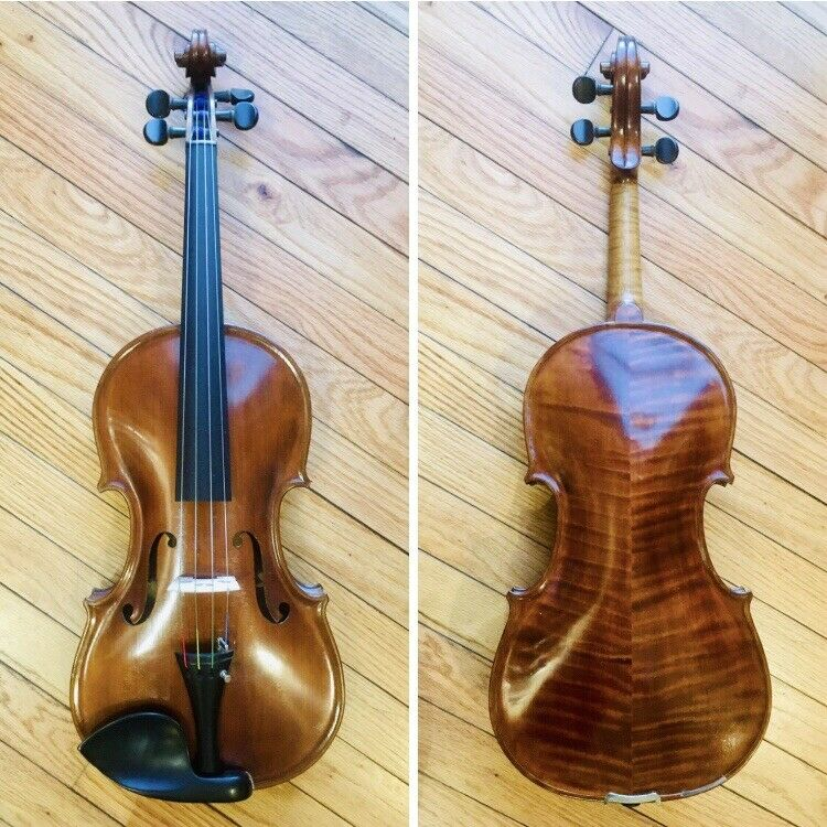 "1937 Handmade 16"" Viola - Highly Flamed (Two-Piece Back) Germany"