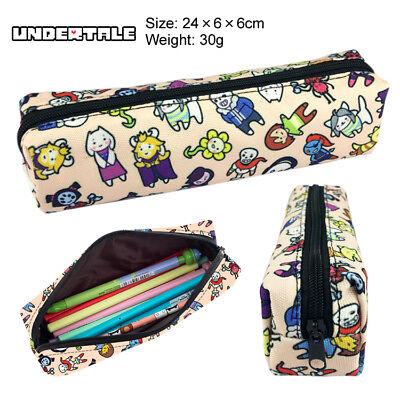 Undertale Sans Papyrus Pen Bag Zipper Makeup Bag Student Pencil Case Handbags