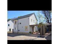Detached 3 bedroom villa with enclosed garden and driveway. Eaglesham