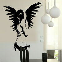 Large Angel Fairy Wall Sticker / Big Girl Wall Decals Angel Wall Transfer Ra20 - laographics - ebay.co.uk