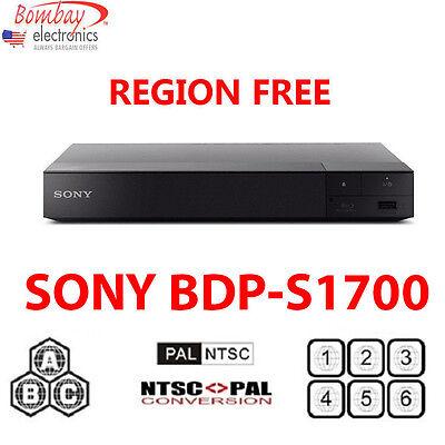 SONY BDP-S1700 ALL MULTI REGION FREE BLU-RAY DVD PLAYER - A, B, C & 0-9 PAL/NTSC
