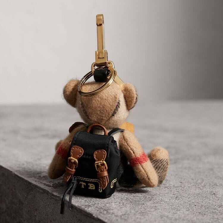New Burberry Thomas Bear Keychain Charm Rucksack Backpack Christmas Gift