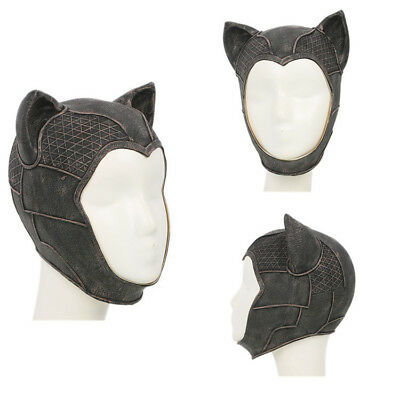 Catwoman Mask Batman Arkham Knight Cosplay Full Head Latex Mask Costume Props - Grey Catwoman Costume