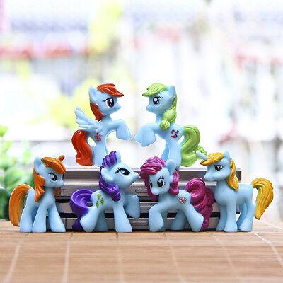 Mi Pequeño Pony 6 figuras azules PVC COMPLETO juguetes de moda niños **OFERTA**