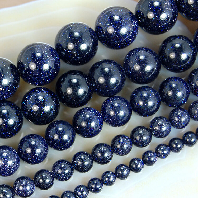 """Wholesale Natural Smooth Golden Blue Sodalite Matte Round Beads 15/""""6,8,10,12mm"""