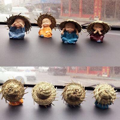 4PCS/set Monk Sets Car Interior Fashion Car Cute Cartoon Doll Decor Accessorie