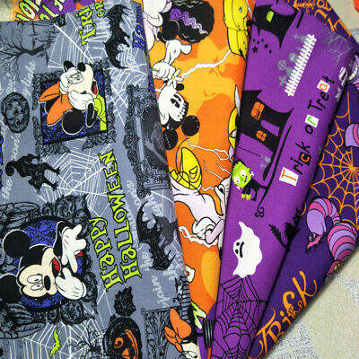 Cotton Plain cloth fabric DIY Handmade tablecloths clothes Halloween print - Diy Halloween Tablecloth