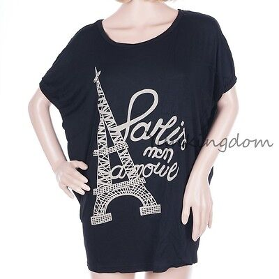 New HOT  Eiffel Tower Confortable  Women Lady Vest Tunic  blouse T-Shirts DB0100 on Rummage