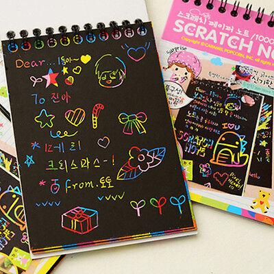 Kids Stationery Set Notebook Journal Stylus Scratch Paper Note Educational