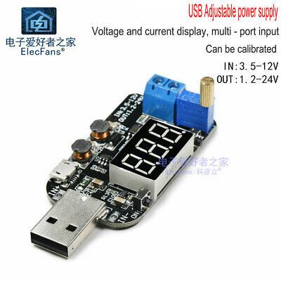 Adjustable Voltage Regulator Module With Current Usb 5v To 3.3v 9v 12v 18v 24v