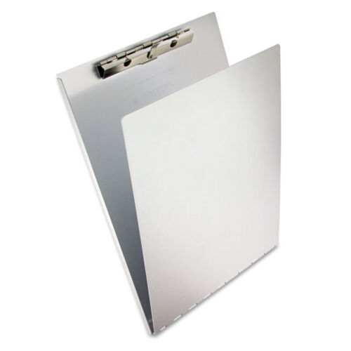 """Saunders Aluminum Clipboard w/Writing Plate, 3/8""""""""Capacity, 8.5w x 12h, Silver"""