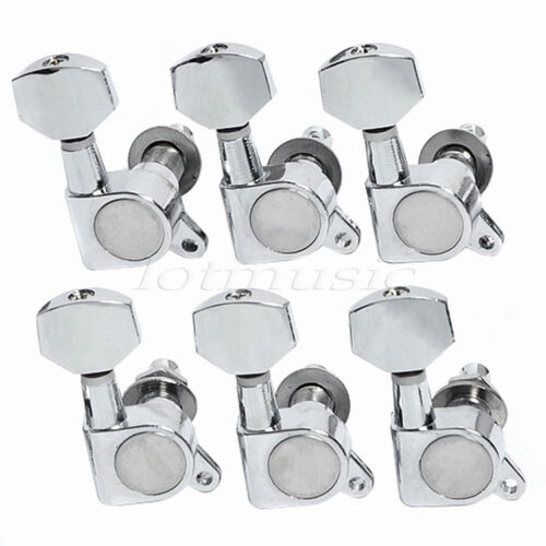 electric acoustic guitar tuning pegs keys tuners machine heads 6r inline chrome ebay. Black Bedroom Furniture Sets. Home Design Ideas