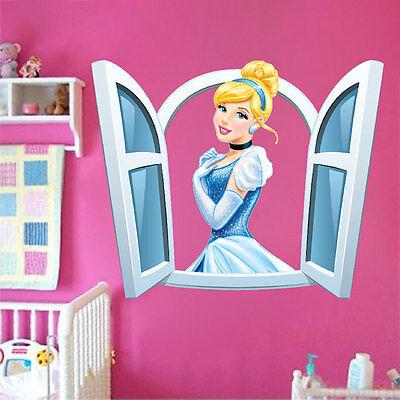 Princess Wall Decal Disney Princesses Fairy Tale Girls Bedroom Wall Mural, n96
