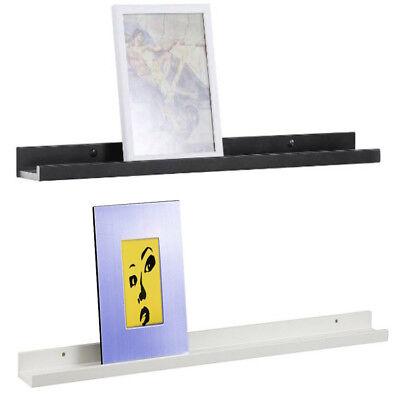 Wandregal weiß Bilderleiste Wandkonsole Holz Regal für Foto Bilder Fotoregal