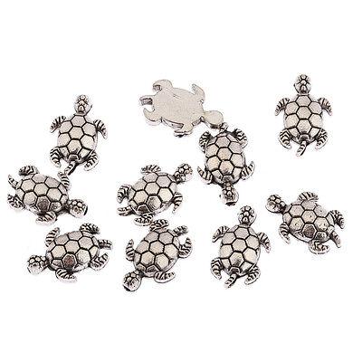 25//75pcs Tibetan Silver Sea Turtle//Tortoise Charm Loose Spacer Beads Findings