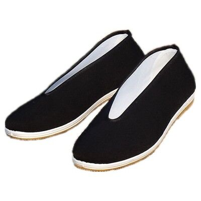 Canvas Cloth Mens Kung Fu Shoes Chinese Traditional Working Flat Casual -
