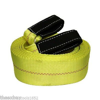 "GRIP TOW STRAP 4"" X 30' 20,000 LB Capacity HEAVY DUTY 4x30 Recovery Towing POUND"