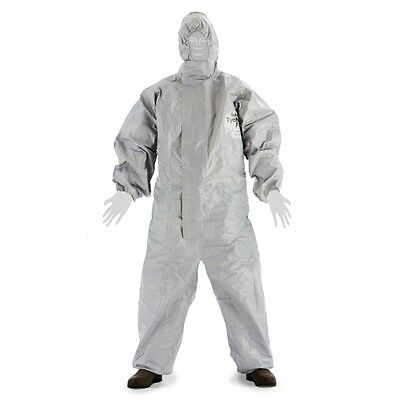 Dupont Tyvek Tychem 2t431 Cpf2 Hooded Chemical Hazmat Coverall Suit Elastic M-4x