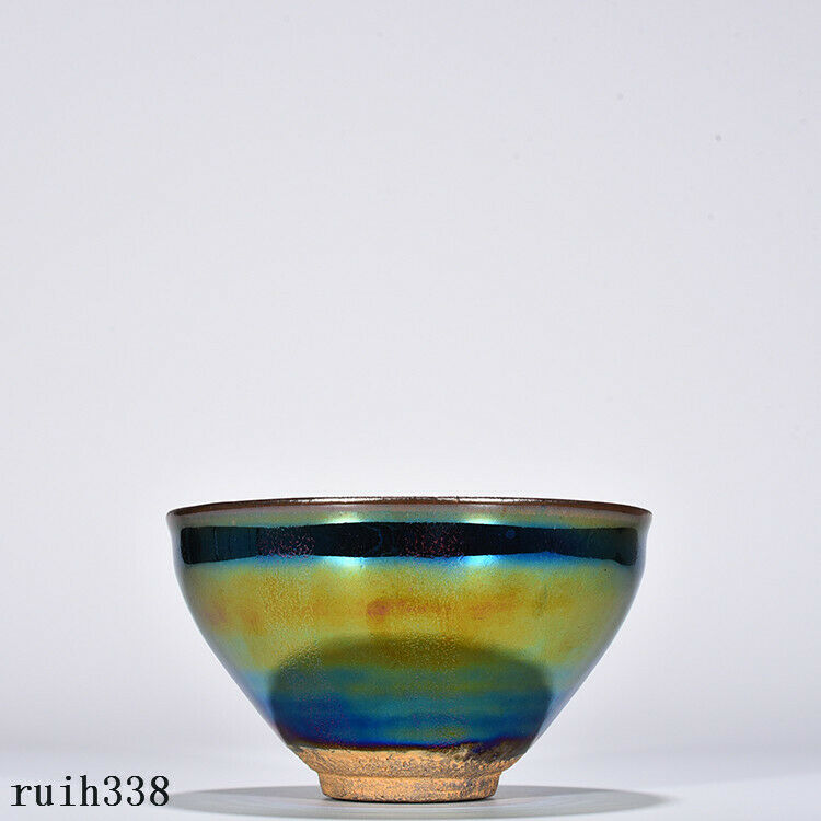 "5""  China  antique  Song dynasty  Building  Seven colors  Porcelain cup"