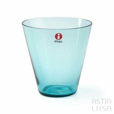 Iittala Kartio Kaj Franck Thin Tumblers Sea Blue, Set of Two, Large – New in Box Iittala Tumbler Set
