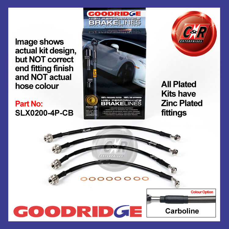 Lexus IS200 99 on Goodridge Zinc Plated Carbo Brake Hoses SLX0200-4P-CB