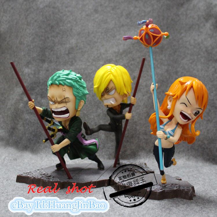 Anime ONE PIECE Roronoa Zoro x Nami PVC Figure New No Box 15cm