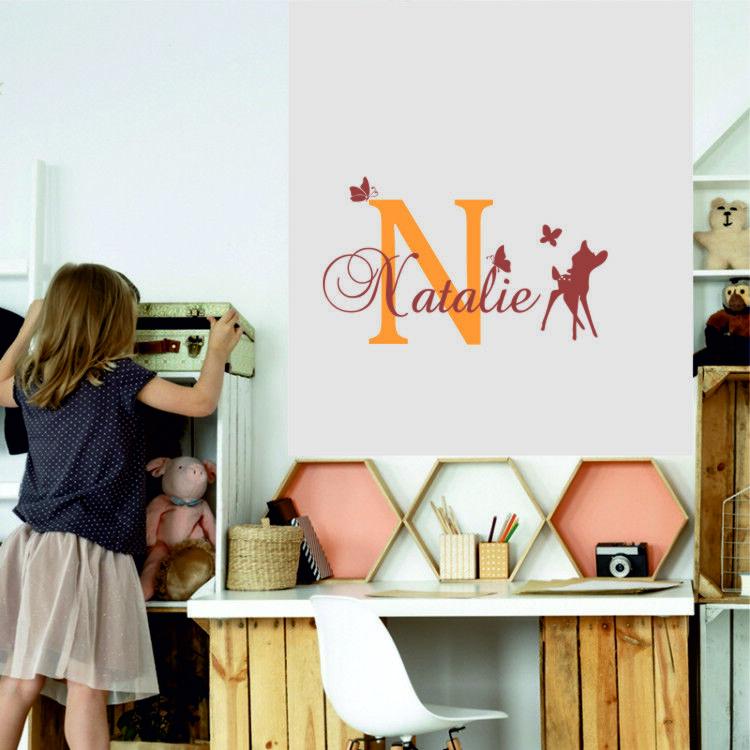 Custom Name Personalised Nursery Wall Decal Kids Baby Art Bedroom Wall Sticker