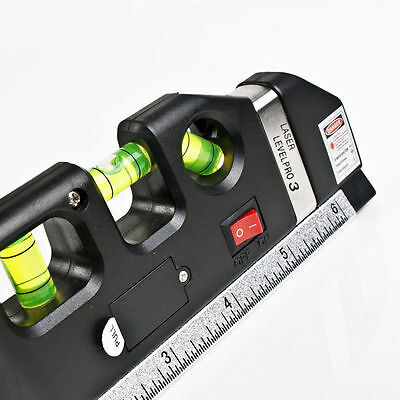 2018 Laser Level Ruler Measuring Tool 2.5 Meter Tape Construction Site Gadget
