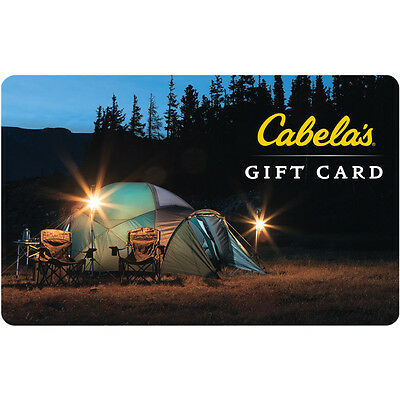 $100 Cabela's Physical Gift Card For Only $80 - FREE 1st Class Mail Delivery