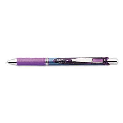 Pentel Energel Rtx Retractable Liquid Gel Pen .5mm Silverviolet Barrel Violet