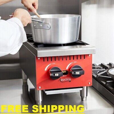 Compact Gas Burner 2 Hot Plate Countertop Kitchen Restaurant Food Cooking Range