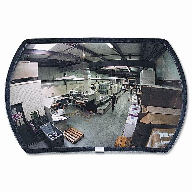 "See All PLX1524 Round Rectangular Acrylic Indoor Convex Security Mirror, 24"""
