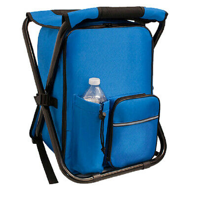 Insulated Backpack Cooler Chair Folding Outdoor Stool Camping Hiking Chair (Insulated Cooler Chair)