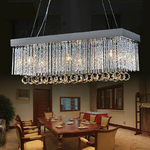 Crystal Chandelier Rectangle for Dinning **** Brand New in a Box
