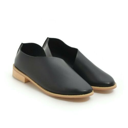 US4.6-12 Women/'s Oxfords Loafers Chunky Heels Slip on Casual Comfort Shoes Size