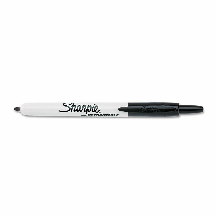 Sharpie Retractable Permanent Marker Fine Point Black 32701