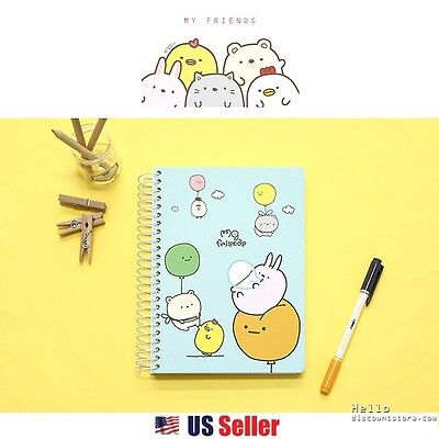 MG Animal Friends College Ruled A5 Spiral Notebook - Stacking Animals : Mint
