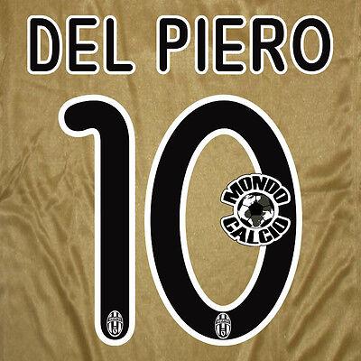 OF THE PIERO #10 JUVENTUS NUMBER AWAY KIT NAME SET PRINTING SERIES 2008-2009