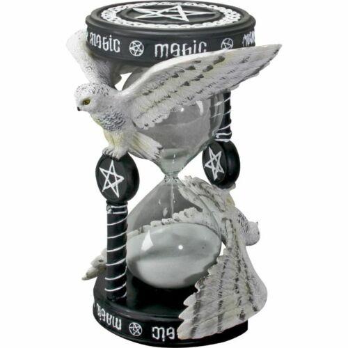 MAGICAL OWL SAND TIMER Pentagram Figurine Anne Stokes magic hourglass hour glass