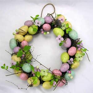Gisela Graham Easter Egg and Flower Wreath Decoration