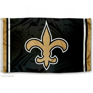 NEW ORLEANS SAINTS FLAG 3'X5' NFL TEAM LOGO BANNER: FREE SHIPPING
