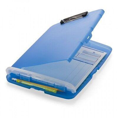 Officemate Slim Clipboard Storage Box Translucent Blue 83304