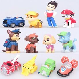 12pcs paw patrol figures cake toppers new